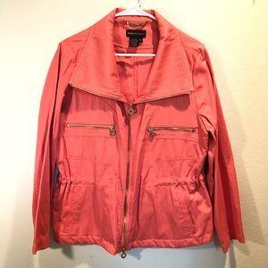 DANA BUCHMAN coral business Jacket blazer Sz L